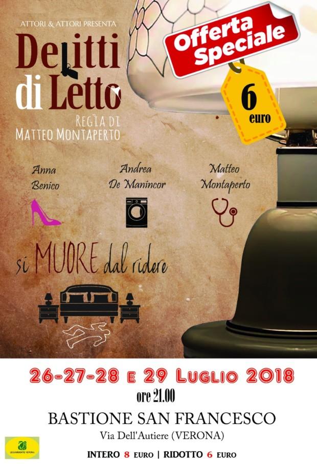 Rassegna teatrale 'Senza Palco' 2018 – Delitti di LETTO 26-29 luglio