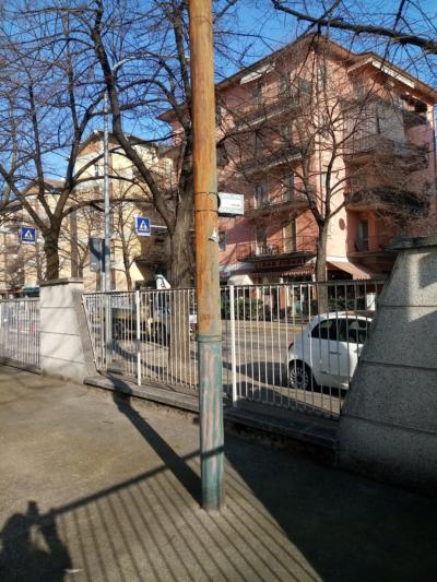 Il nuovo radiello posto alle scuole Mazza di Borgo Roma